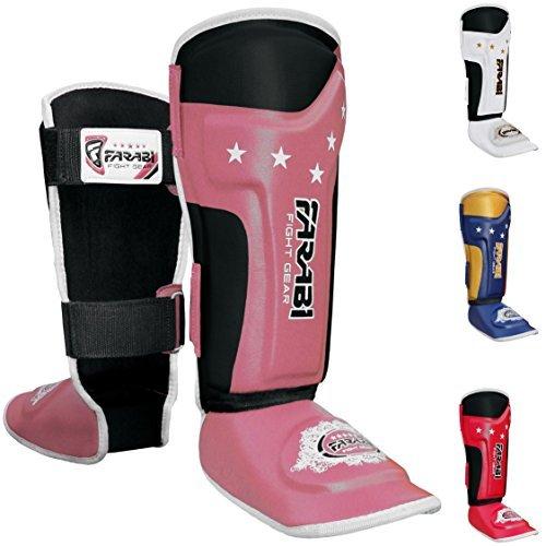 Kinder Schienbeinschoner, Junior Muay Thai, MMA Schienbeinschoner Rist schützende Bein Fuß rosa