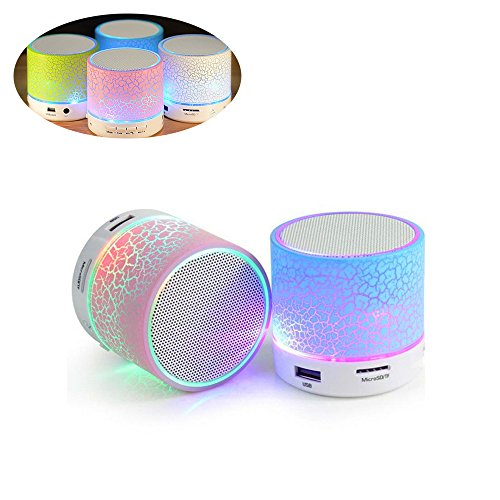 Kunli Bombilla LED con altavoz Bluetooth integrado, mini altavoz portátil Bluetooth LED brillo colorido, RGB Cambio de la lámpara Audio estéreo inalámbrico con control remoto