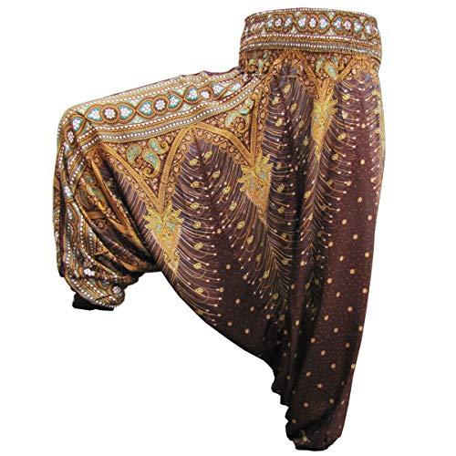 Kostüm Hippie Mens 60's - PANASIAM Aladin Pants, Print-Design-Style: Peacock v09