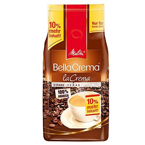 Melitta Ganze Kaffeebohnen, 100 % Arabica, vollmundig und ausgewogen, mittlerer Röstgrad, Stärke 3, BellaCrema la Crema, - Kaffee-pakete Individuelle