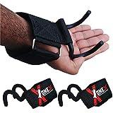 ONEX Fasce Polsi Fitness Palestra Gancio Cinghie Sollevamento Pesi Supporto Peso Bodybuilding Crossfit Accessori Bilanciere Per Lifting Straps Hook Protezione Del Polso Bar Grip Wrap