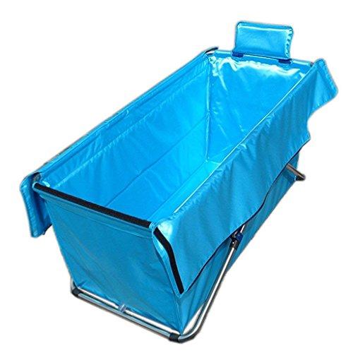 Faltbare Badewanne Faltende Badewanne Badewanne für Erwachsene Badewanne aufblasbare einfache Wachsen Kinder und Junioren Pool Golden Standard (Farbe: Pink, blau Größe: 105 * 56 * 52 Cm) (Farbe : A)