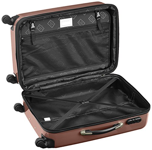 HAUPTSTADTKOFFER - Alex - 2er Koffer-Set Hartschale glänzend, 65 cm, 74 Liter, Graphit-Schwarz Braun-Grün