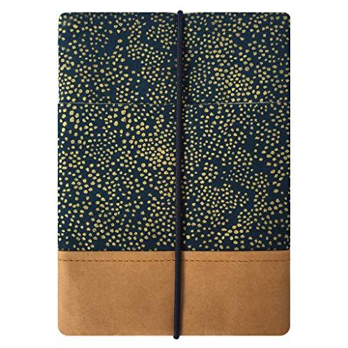 Kuratist eBook Reader Sleeve- Handgemacht aus 100% Baumwolle und Kantenschutz aus Papier in Lederoptik (100% Vegan) (6 Zoll/Tolino Shine 2/3 HD/Vision 2/3/4 HD, Champagne Night)
