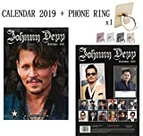 Johnny Depp Calendrier 2019 + Phone Ring Metal Stand Holder for All Mobile Phone