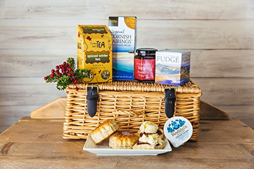 Christmas Cream Tea Hamper In A Wicker Hamper
