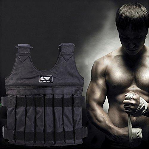 Cosy-TT Gewicht Weste, 1-20kg Max einstellbares Gewicht Jacke gewichtete Weste Übung Fitness Boxtraining Weste unsichtbare Gewicht Weste mit Schulterpolster -