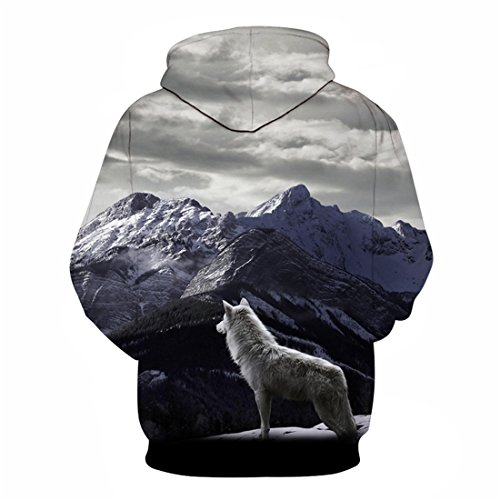 Pullover ECYC® 3D Wolf Pullover Pullover Felpe Unisex Plus Size S-6XL A14