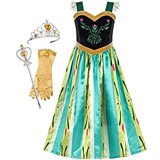 Sunny Fashion Princess Dress Up Anna Girls Accessories Crown Magic Wand Age 12 Years