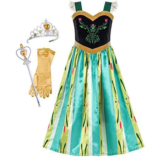 Sunboree Prinzessin Kleid Oben Anna Mädchen Zubehör Krone Zauber Zauberstab Gr. ()