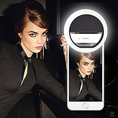 Selfie Ring Light, MACTIS® LED Camera Photography Supplementary Lighting Night or Darkness Selfie Enhancing LED Fill Light For iPhone 6s Plus/6s Sumsung Andriod - inexpensive UK light store.
