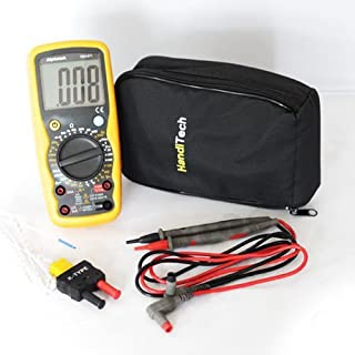 Alphatek TEK471 - Digital, Backlit, LCD, 20 Amp, 1000 Volt AC/DC High Performance Digital Multimeter, Measures Frequency And Temperature With Type K Temperature Probe