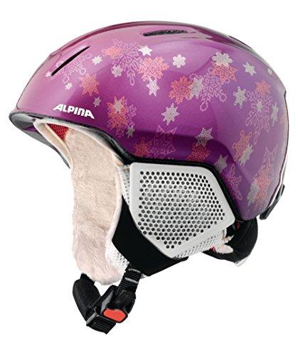 Alpina Kinder Carat LX Skihelm, Purple-Star, 51-55 cm
