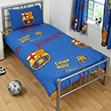 FC Barcelona Official Football Gift Duvet Set - A Great Christmas / Birthday Gift Idea For Men And Boys