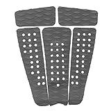 Non-brand 5 Pezzi Diamond Grooved Premium Tavola Da Surf EVA SUP Traction Deck Grip Tail Pad Accessori Per Il Surf Accessori Per Sport Acquatici - Scegli I Colori - Grigio