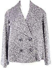28bbabe25511 Drykorn Damen Jacke Gr 3 38 Wolle Wolljacke Schwarz Weiß Modell Brecon