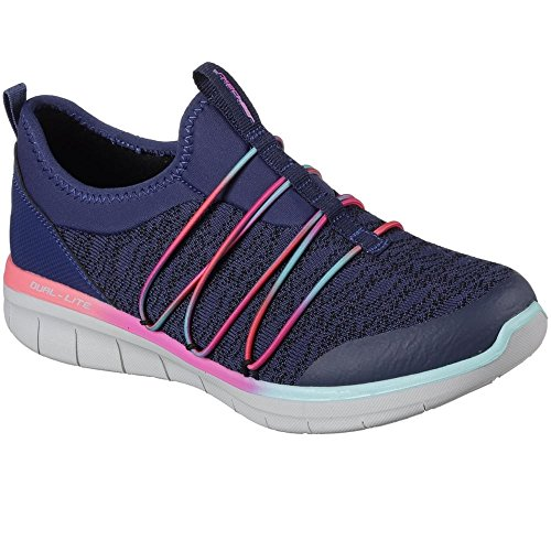 Skechers - synergy 2.0 simply chic - scarpe sportive - donna (38) (blu navy/multi)