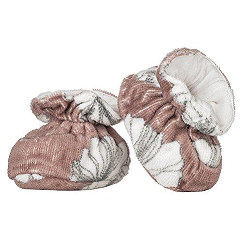 Milkbarn Baby-Schühchen Badeschühchen aus Bio-Baumwoll-Frottee in der Grösse 0 - 9 Monate Motiv Fuchs Blume