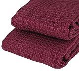 K&G MASBN4 2er Set Gäste-Handtuch Brombeere | 100% Baumwolle | Öko-Tex Standart 100 | Küchenhandtuch | Trockentuch | Handtuch Küche & Bad (Brombeere)