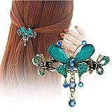 cuhair 1pièce Alliage Métal Creux Vintage Papillon Pince À Cheveux Barrettes Accessoires De Cheveux Pour Femmes Fille Punk (bleu ciel)