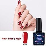 Frenshion 5ml Smalto Semipermante Gel Nail Polish UV LED Soak off Capodanno Rosso N012