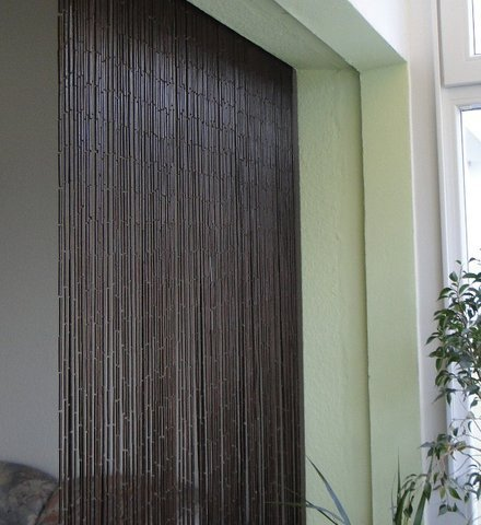 Leguana - Cortina para puerta de bambu saigón classic - bambú oscuro.