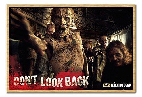 The Walking Dead Zombies Don 't Look Back Poster Kork Pinnwand Buchenholz-Rahmen, 96,5x 66cm (ca. 96,5x (Zombie Look)