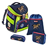 Step by Step Comfort DIN Schulranzen-Set 4-tlg Horse Family horse family din
