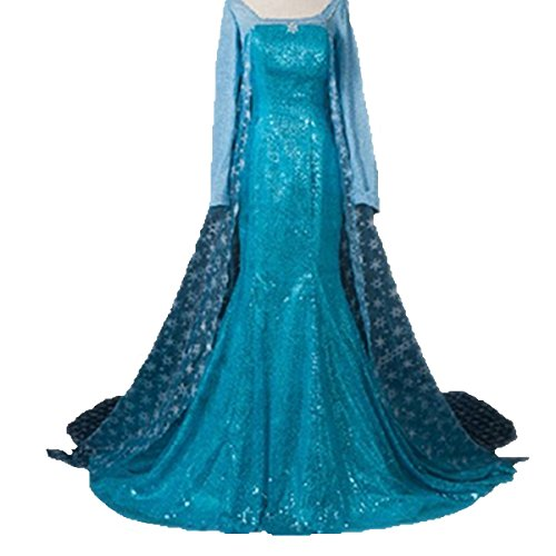 Top One Damen Princess Snow Queen Fancy Style Dress Cosplay Costume Kleider (Bell-bottom-kostüm)