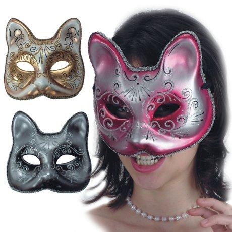 LIBROLANDIA 00600 Maschera Gatto in cartapesta 3 col.ass.ti in busta