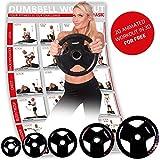 POWRX Olympia Hantelscheiben 2er Set | gummierte Gewichte für Langhanteln | Verschiedene Gewichtsvarianten 2,5-20 kg | Lochdurchmesser 51 mm (2 x 15 kg)