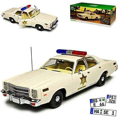 Greenlight Plymouth Fury Hazzard County Sheriff Police, gebraucht gebraucht kaufen  Wird an jeden Ort in Deutschland