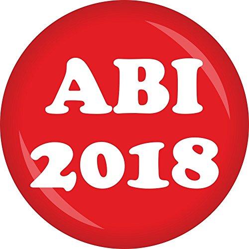 Preisvergleich Produktbild partydiscount24 Button ABI 2018 - Freie Farbwahl - 6 Stück Ø 50 mm (Rot)