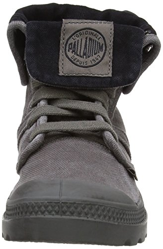 Palladium Damen Pallabrouse Baggy Combat Boots Schwarz (METAL/BLACK 029)