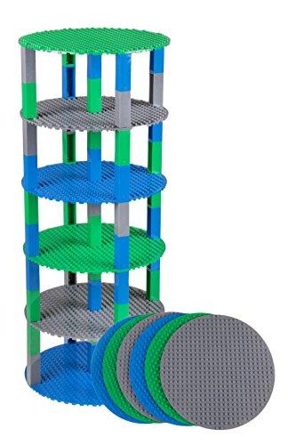 um-Bauplatten - rund & stapelbar - kompatibel mit Allen großen Marken - Set mit 6 Bauplatten (Ø 8