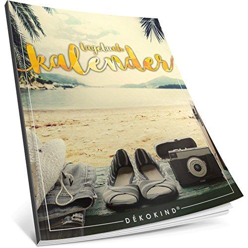 Dékokind® Tagebuch-Kalender: One Line A Day • Ca. A4-Format, Notizseiten & Zitate für jeden Monat • Kalenderbuch, Tagesplaner, Terminkalender • ArtNr. 03 Achtsamkeit • Vintage Softcover