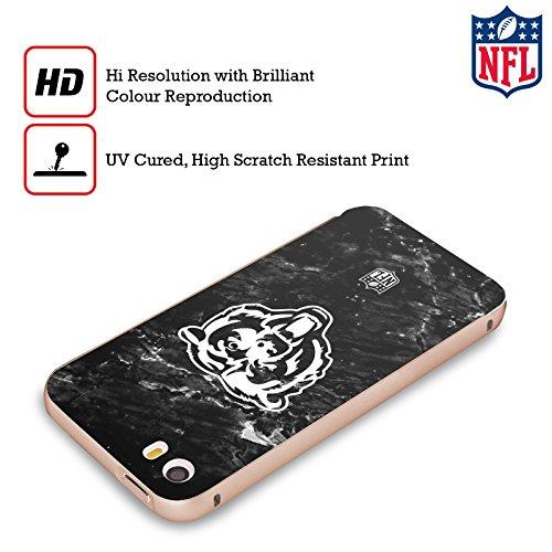 Ufficiale NFL Pattern 2017/18 Chicago Bears Oro Cover Contorno con Bumper in Alluminio per Apple iPhone 5 / 5s / SE Marmo