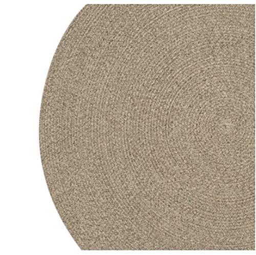 DENGLEI Teppich, nordisches Faser-Seil, handgewebt, rund, saugfähig, für Wohnzimmer, Schlafzimmer, handgefertigt, maschinenwaschbar, Heimdekorator a