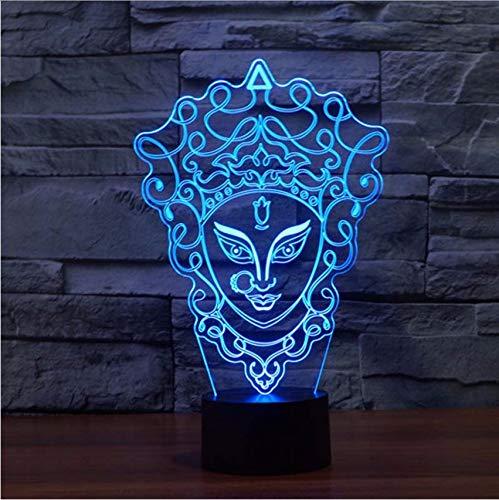 Djkaa Masque Facial Night Light Pour Parents Led Led Lampe Night Light Dim 7 Couleur Changeante Led Night Light Outlet