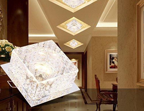 ZLL/ LED Downlight/Decke Licht/Lampe/Halle/Wohnzimmer/Korridor Leuchten Wandleuchten Kristall-Lampen/Leuchten/embedded Loch Deckenleuchten , round color light + [dark outfit] - Halle Kristall-wandleuchte