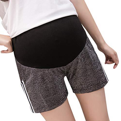 Gusspower Mujer Pantalones Cortos Premamá Pantalones de Deporte Leggings Rayas Suelto Pantalón de Yoga Pijamas Push Up Elástico Talle Bajo Tallas Grandes para Barriga Mujer Embarazada Maternidad
