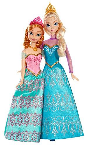 Mattel BDK37 - Disney Princess Die Eiskönigin Königlichen Schwestern, 2 Puppen im Set (Disney-puppe Kleid-set)