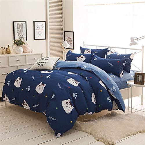 JWANS Bettwäschesatz 4 Stück Heimtextilien Bettbezug Flaches Blatt Kissenbezug Moderne Bedruckte Bettwäsche Full Queen Size (Für Tween Twin Bettwäsche Mädchen)