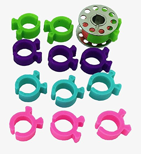 PeavyTailor 24 Pcs Thread Bobbin Holders Clips Great for embroidery, quilting and sewing thread