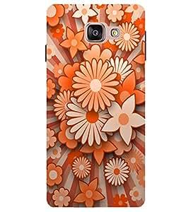 Citydreamz Orange Flowers Hard Polycarbonate Designer Back Case Cover For Samsung Galaxy A5 2016 Edition