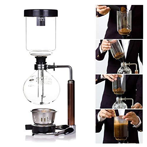 Hohe Qualität 3 Tasse Kaffeemaschine Japanischen Stil Vakuum Glas Siphon Topf Percolators Siphon Topf Percolators 1-3 Tassen Kaffeemaschine Set Filter Siphon Kaffeekanne Hitzebeständige (Siphon) - Kaffeemaschine Glas Vakuum