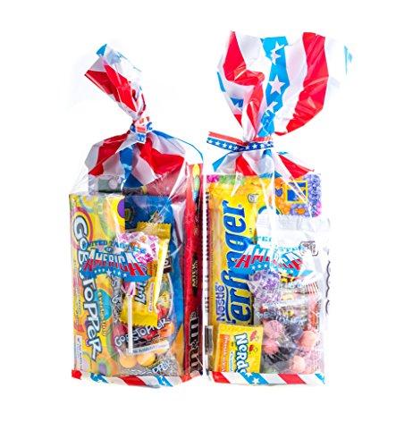 Jelly Beans Nerds (Double Trouble Schmeckt der Staaten! 2 X All American Süßigkeit-Geschenk-Taschen. 2 Taschen voller aufregender amerikanische Süßigkeit!)