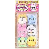 Kawaii Set 6 gomas de borrar, animales bebé, de Japón