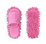 Ciniglia Scarpe Pantofola Genie In Microfibra Mop Per La Pulizia Del Pavimento Strumento Per La Pulizia Della Polvere Pantofole Da Donna (Rosa)