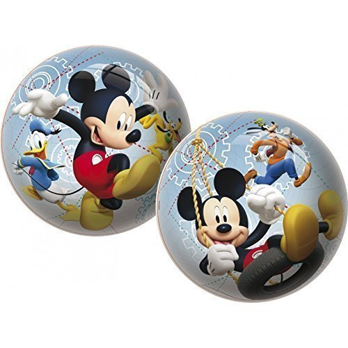 Spielball / Fußball / Strandball / Wasserball Disney Mickey Mouse mit Pluto, Goofy und Donald ca. 23 cm
